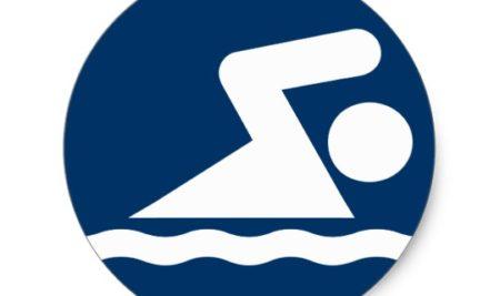 Competição de natação Aluna Giullia