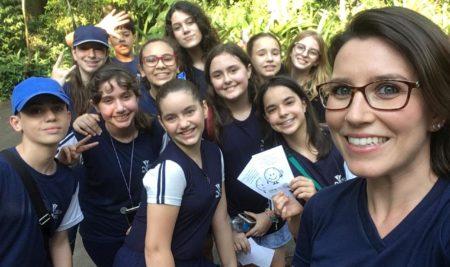 Uma aula diferenciada no Orquidário de Santos